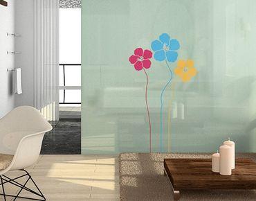 Fensterfolie - Fenstersticker No.MW86 Blumentrio - Fensterbilder
