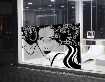 Fensterfolie - Sichtschutz Fenster Frühlingsportrait - Fensterbilder
