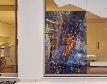 Fensterfolie - Sichtschutz Fenster Manhattans Taxilichter - Fensterbilder