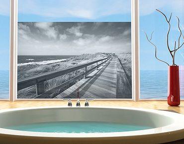 Fensterfolie - Sichtschutz Fenster Nordseespaziergang II - Fensterbilder