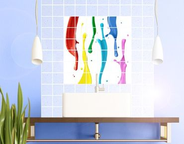 Fliesenbild - Farbspritzer