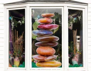 Fensterfolie - Fenstersticker No.448 Steinbalance - Fensterbilder