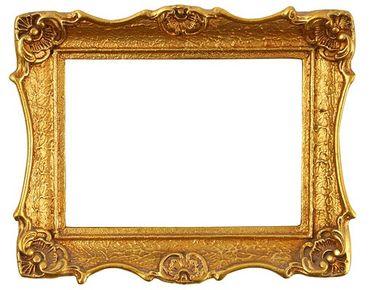 Fensterfolie - Fenstersticker No.493 Goldener Rahmen I - Fensterbilder