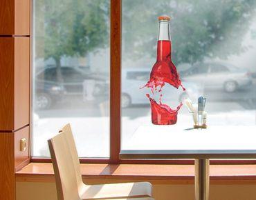 Fensterfolie - Fenstersticker No.497 Saftflasche - Fensterbilder