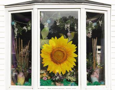 Fensterfolie - Fenstersticker No.498 Sonnenblumenblüte - Fensterbilder
