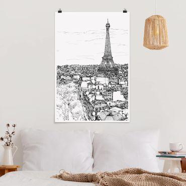 Poster - Stadtstudie - Paris - Hochformat 3:2