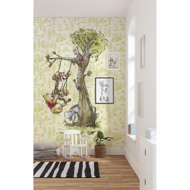 Disney Kindertapete - Winnie Pooh in the wood - Komar Fototapete