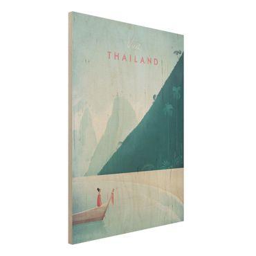 Holzbild - Reiseposter - Thailand - Hochformat 4:3