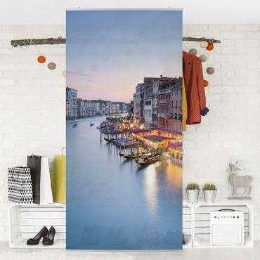 Raumteiler - Abendstimmung auf Canal Grande in Venedig 250x120cm