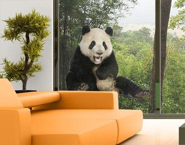 Fensterfolie - Fenstersticker No.501 Lachender Panda - Fensterbilder