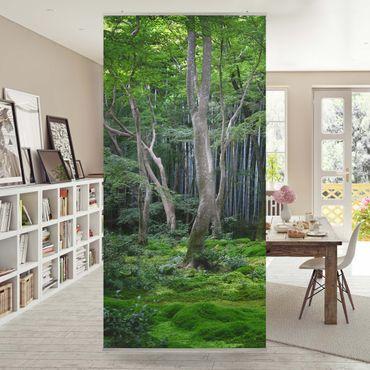 Raumteiler - Japanischer Wald 250x120cm