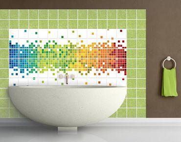 Fliesenbild - Pixel-Regenbogen
