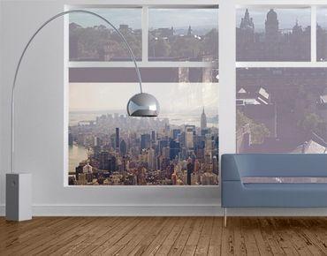 Fensterfolie - Sichtschutz Fenster Der Morgen in New York - Fensterbilder