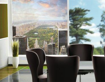 Fensterfolie - Sichtschutz Fenster Blick über den Central Park - Fensterbilder