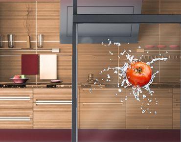 Fensterfolie - Fenstersticker No.507 Frische Tomate - Fensterbilder
