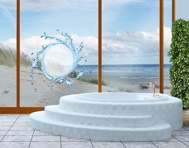 Fensterfolie - Fenstersticker No.506 Wasserstrudel - Fensterbilder