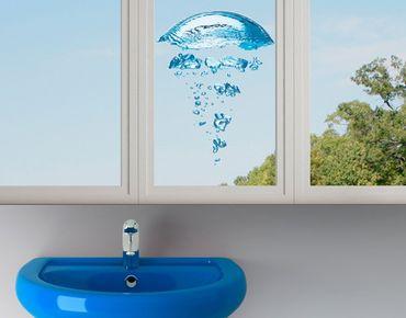 Fensterfolie - Fenstersticker No.596 Wasserqualle - Fensterbilder