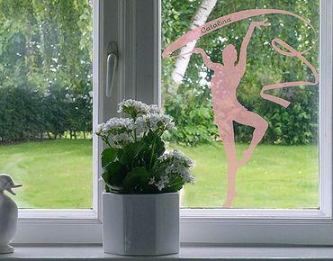 Fensterfolie - Fenstertattoo No.RS127 Wunschtext Bodenturnen - Milchglasfolie
