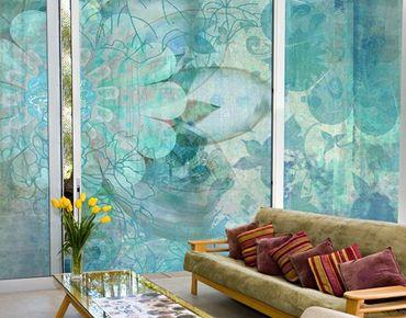 Fensterfolie - XXL Fensterbild Winterblumen - Fenster Sichtschutz
