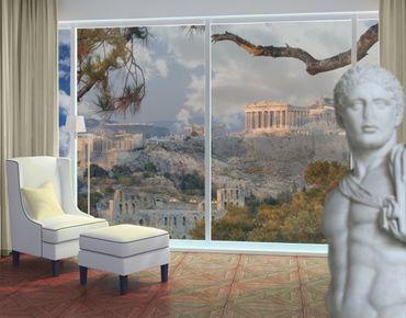 Fensterfolie - XXL Fensterbild Akropolis - Fenster Sichtschutz