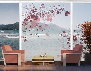 Fensterfolie - XXL Fensterbild Apricot Blossom - Fenster Sichtschutz