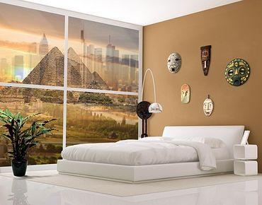 Fensterfolie - XXL Fensterbild Dream of Egypt - Fenster Sichtschutz