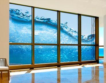 Fensterfolie - XXL Fensterbild Beautiful Wave - Fenster Sichtschutz