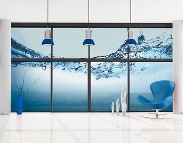 Fensterfolie - XXL Fensterbild Fizzy Water - Fenster Sichtschutz