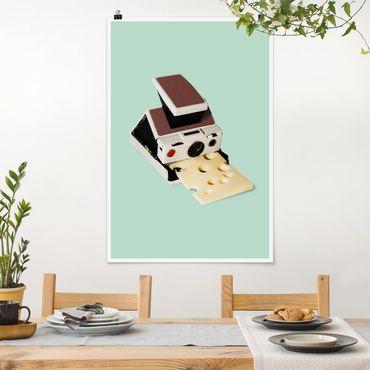 Poster - Jonas Loose - Kamera mit Käse - Hochformat 3:2