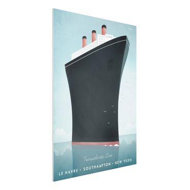 Forex Fine Art Print - Reiseposter - Kreuzfahrtschiff - Hochformat 4:3