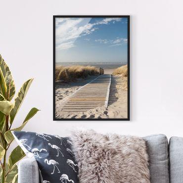 Bild mit Rahmen - Ostsee Strand - Hochformat 3:4