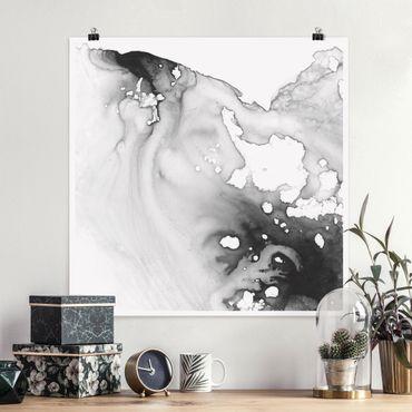 Poster - Dunst und Wasser III - Quadrat 1:1