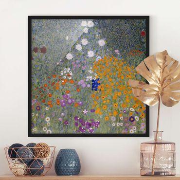 Bild mit Rahmen - Gustav Klimt - Bauerngarten - Quadrat 1:1