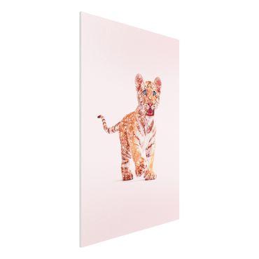 Forex Fine Art Print - Jonas Loose - Tiger mit Glitzer - Hochformat 3:2