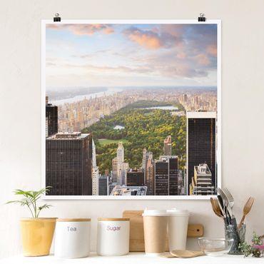 Poster - Blick über den Central Park - Quadrat 1:1