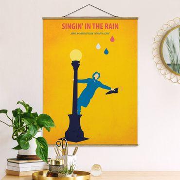 Stoffbild mit Posterleisten - Filmposter Singing in the rain - Hochformat 3:4