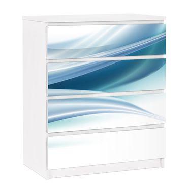 Möbelfolie für IKEA Malm Kommode - selbstklebende Folie Blue Dust