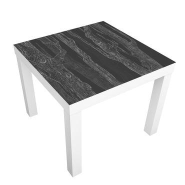Möbelfolie für IKEA Lack - Klebefolie No.MW20 Wohnwald Anthrazit-Grau