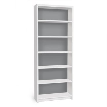 Möbelfolie für IKEA Billy Regal - Klebefolie Colour Cool Grey