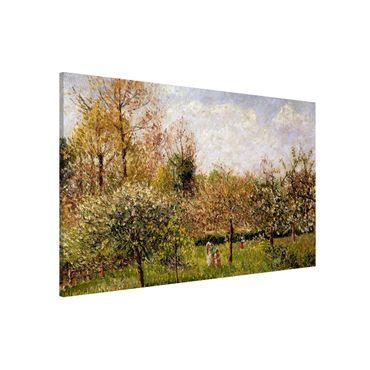 Magnettafel - Camille Pissarro - Frühling in Eragny - Memoboard Querformat 2:3