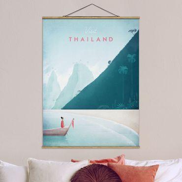 Stoffbild mit Posterleisten - Reiseposter - Thailand - Hochformat 4:3
