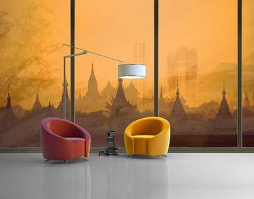 Fensterfolie - XXL Fensterbild Tempelstadt in Myanmar - Fenster Sichtschutz