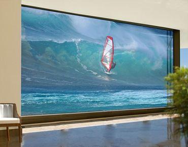 Fensterfolie - XXL Fensterbild The Surfer - Fenster Sichtschutz