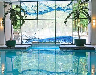 Fensterfolie - XXL Fensterbild Wasserwelten - Fenster Sichtschutz