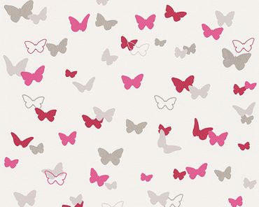 Esprit Mustertapete Esprit Kids 5 Sweet Butterfly in Grau, Rosa, Weiß