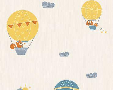 Esprit Mustertapete Esprit Kids 5 Flying Balloon in Blau, Creme, Orange