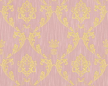 Architects Paper Unitapete Metallic Silk in Rosa, Metallic