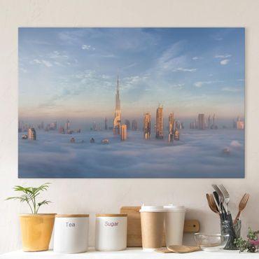 Leinwandbild - Dubai über den Wolken - Querformat 2:3
