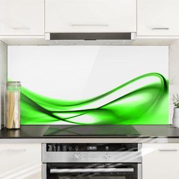 Spritzschutz Glas - Green Touch - Querformat - 2:1