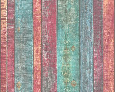 A.S. Création Mustertapete Best of Wood`n Stone 2nd Edition in Blau, Bunt, Rot